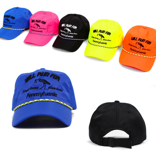Stitched Logo Neon Color Baseball Cap 012