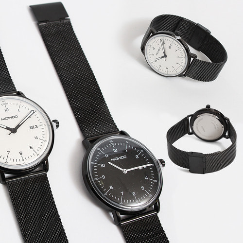 Round Mesh Type Steel Strap Watch 014