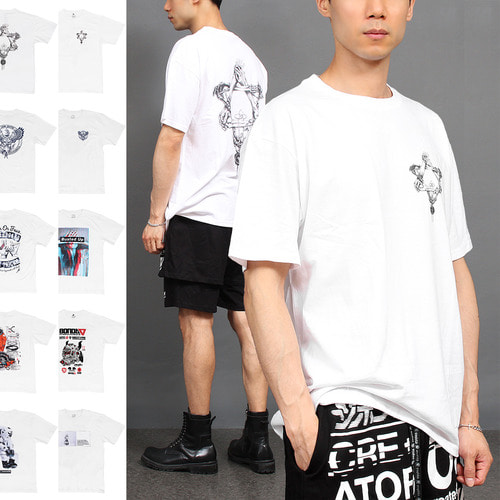 Graphic Printing Short Sleeve Boxy Tee 192