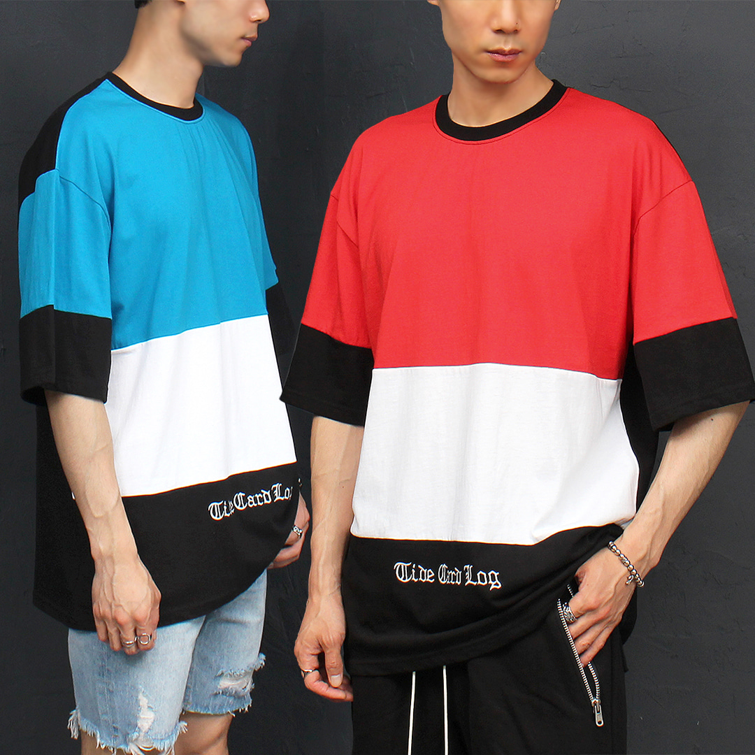 Street Fashion Logo Stitched Loose Fit Short Sleeve Tee 316