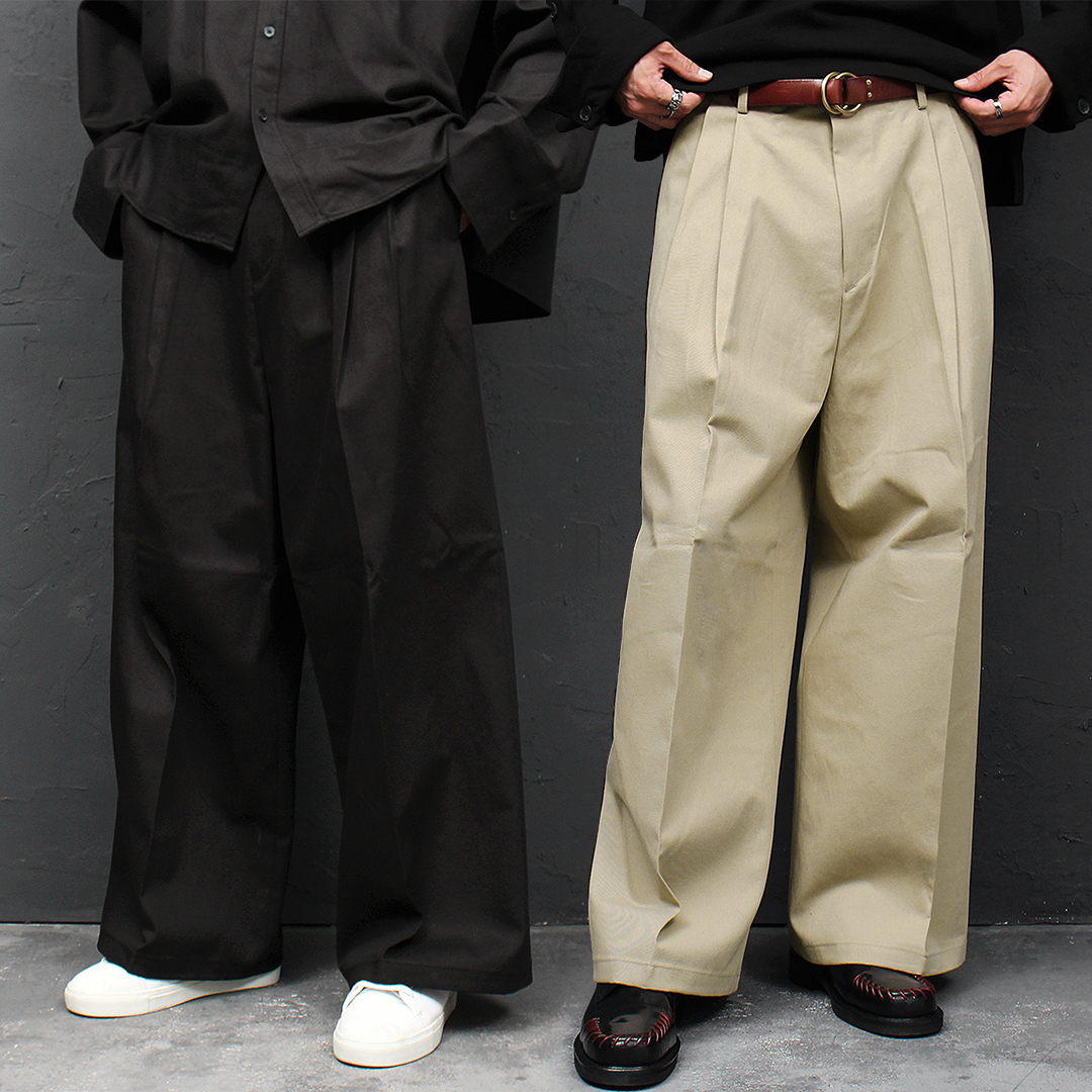 Loose Fit Pleated Over Sized Wide Pants 041