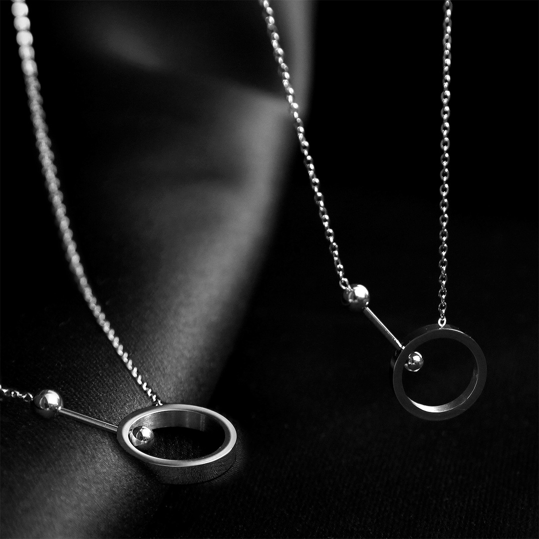 Piercing Ring Combined Pendant Necklace N108