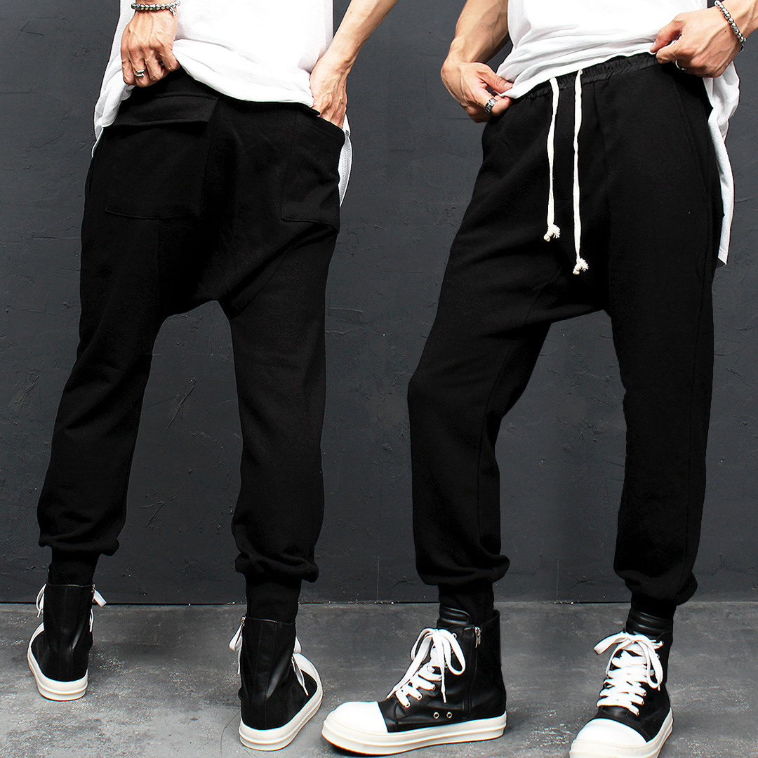 Drop Crotch Pocket Baggy Joggers 104