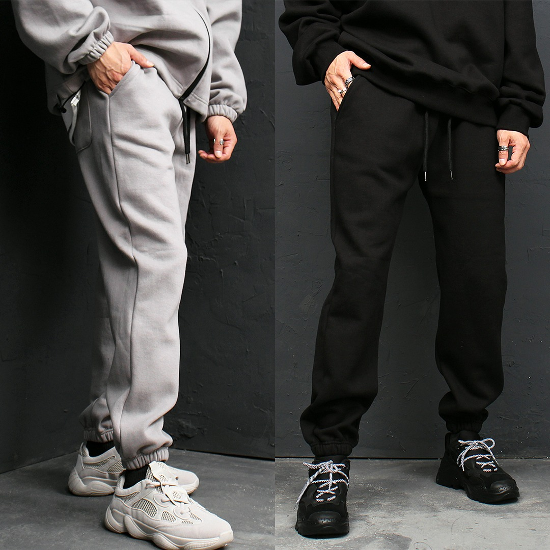 Loose Fit Fleecy Interior Jogger Sweatpants 129