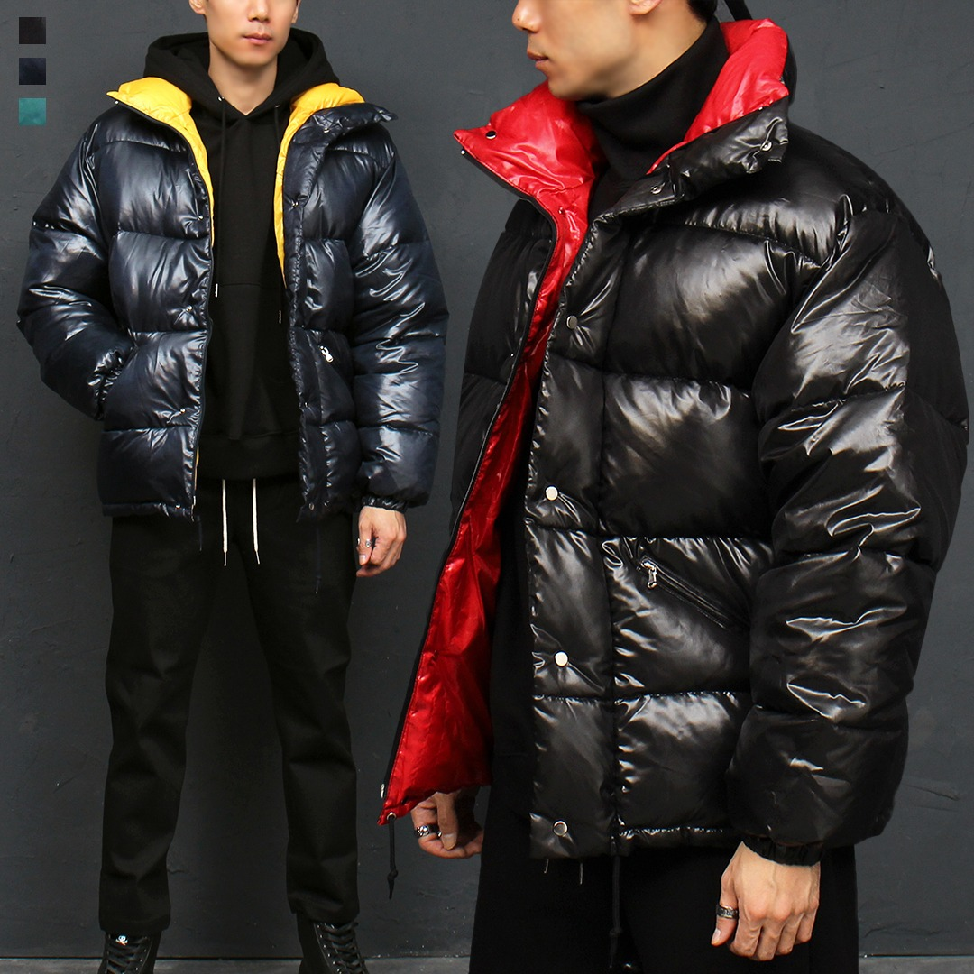 High Neck Duck Down Padded Parka 003
