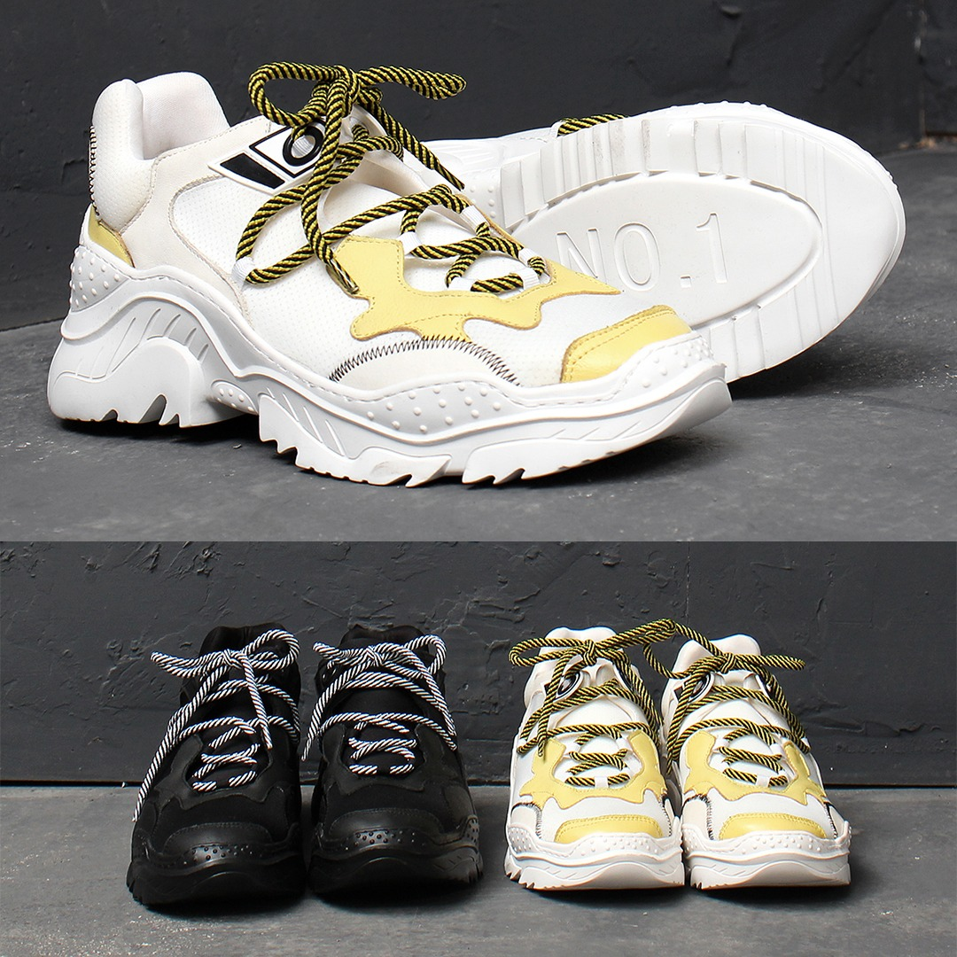 Synthetic Leather Runner Sneakers 018