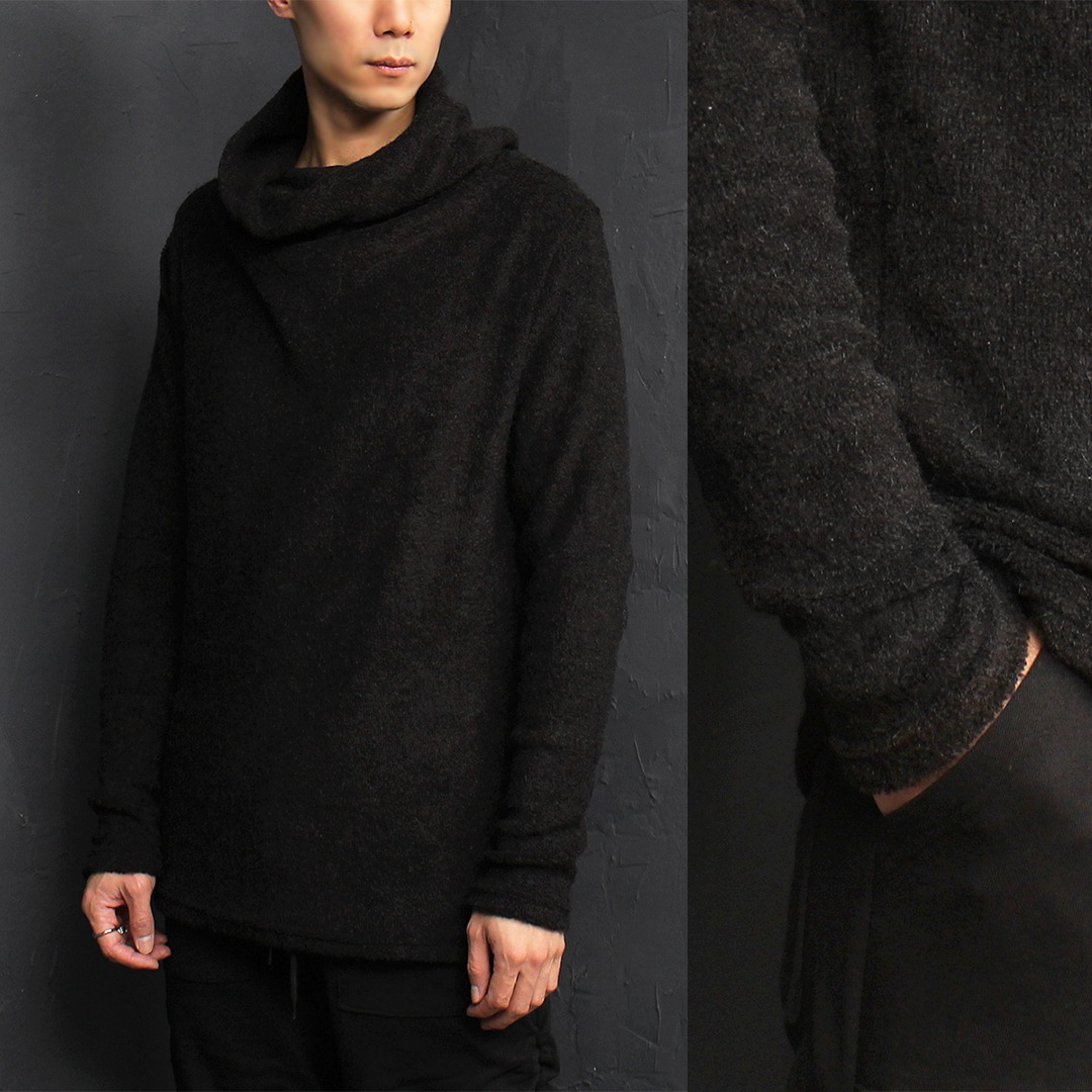 Shirring Turtle Neck Knit Jumper 023