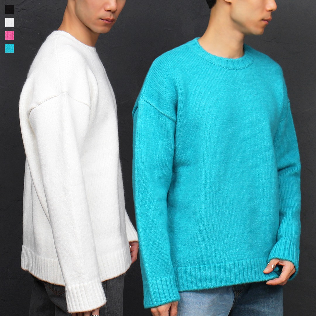 Loose Fit Color Mohair Knit Jumper 020