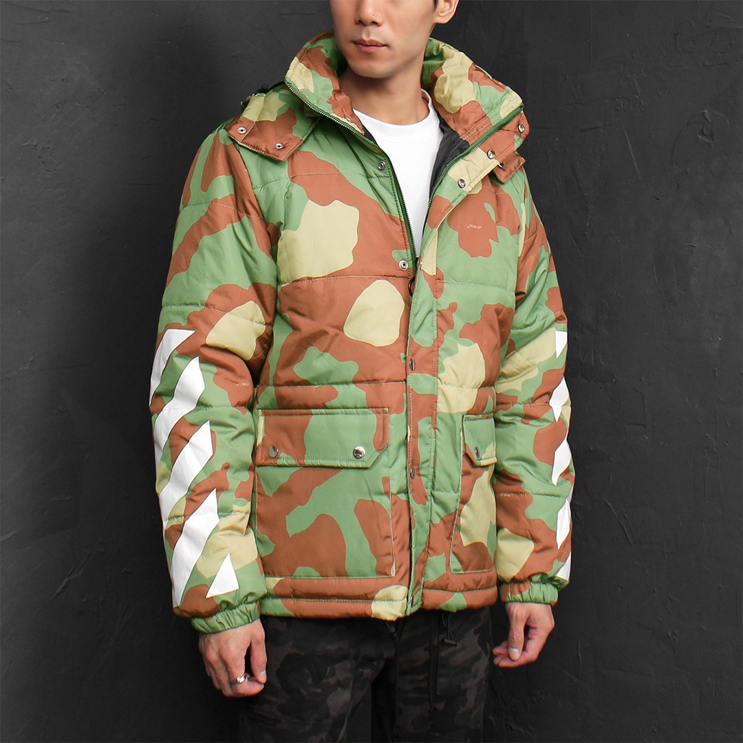 Graphic Printing Cotton Insulation Hooded Jacket 007