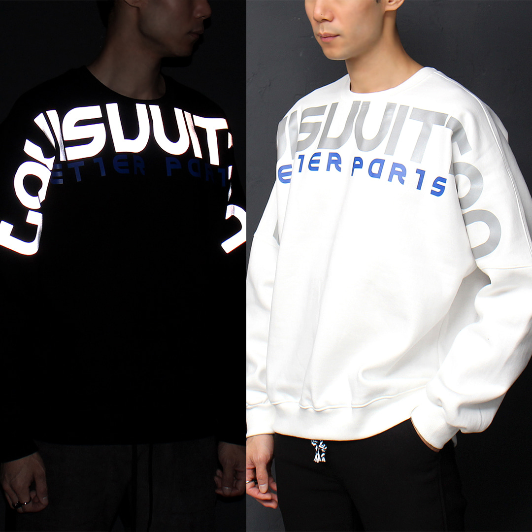 Reflective Logo Loose Fit Boxy Sweatshirt 071