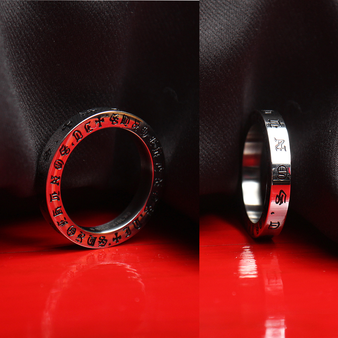Oriental Letter Surgical Stainless Steel Ring R73
