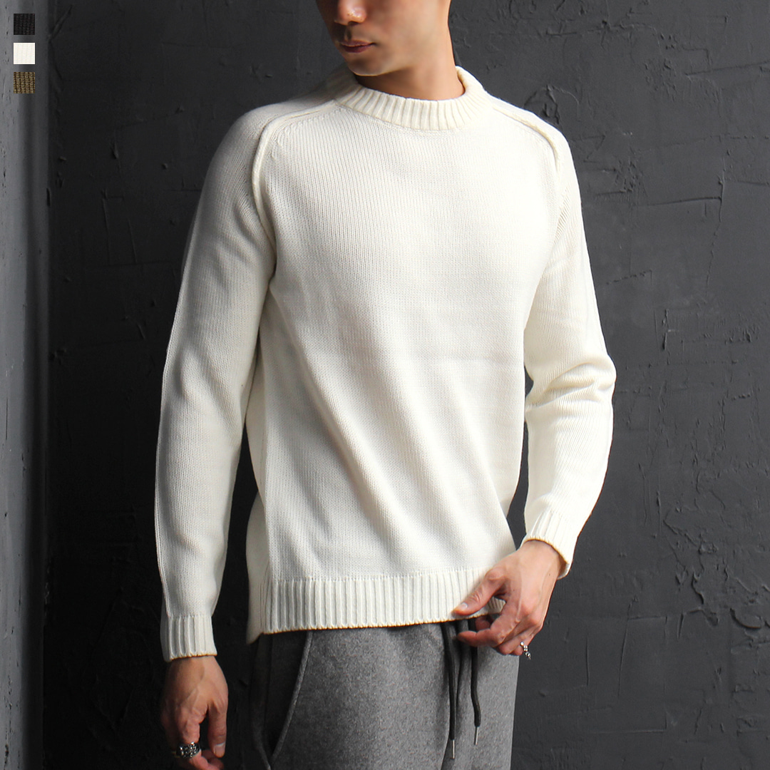 Slim Fit Revered Line Styling Color Knit Tee 034