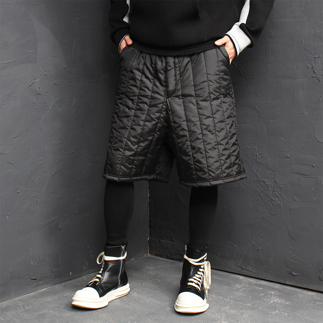 Leggings Layered Drop Crotch Padded Half Puffa Baggy Sweatpants 158