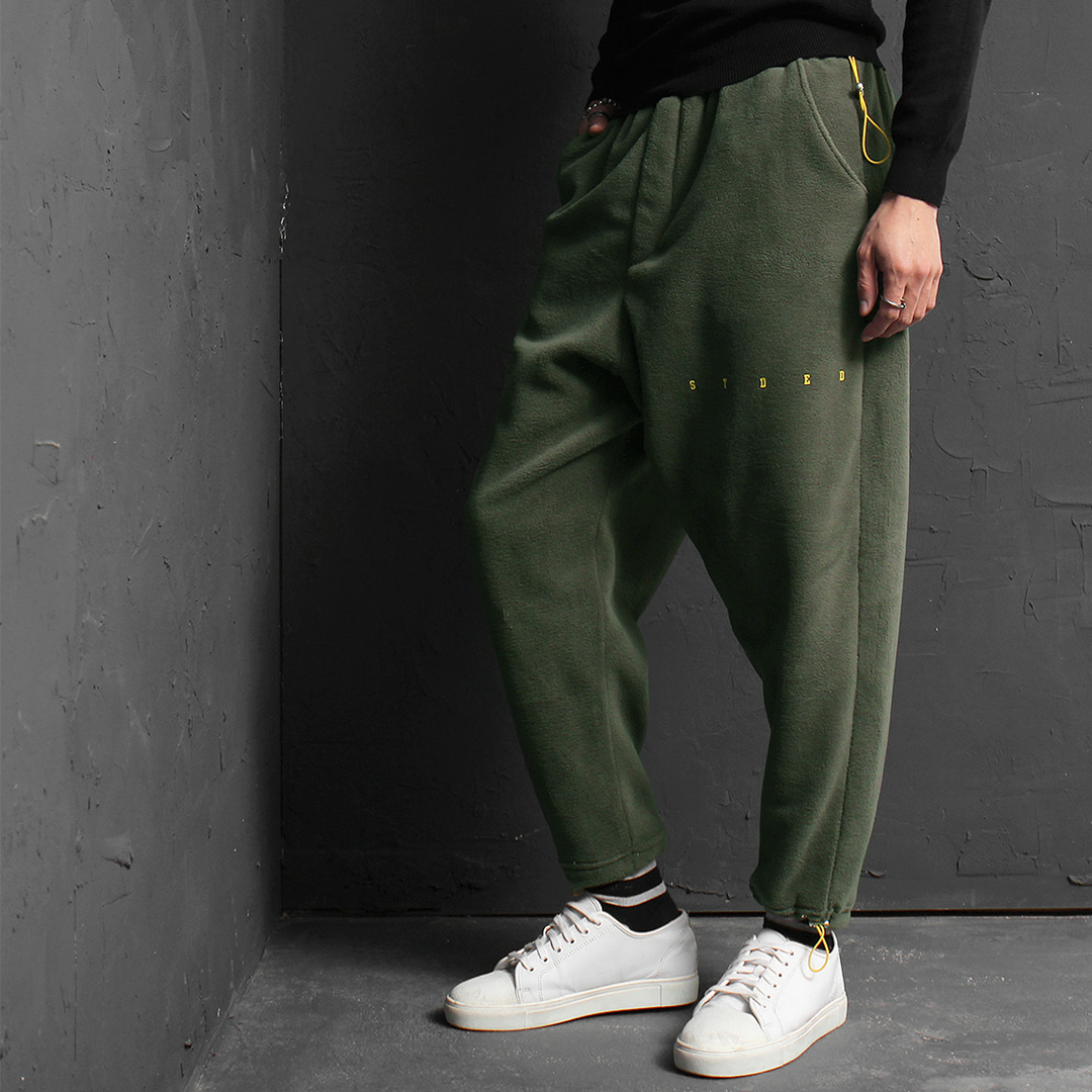 Draw string Hem Fluffy Fleece Baggy Sweatpants 162