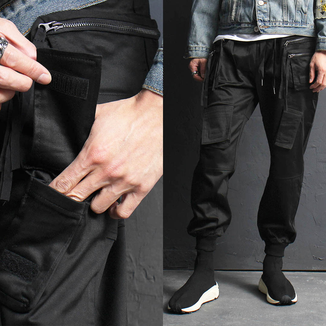 Double Zipper Cargo Pocket Jogger Pants 027