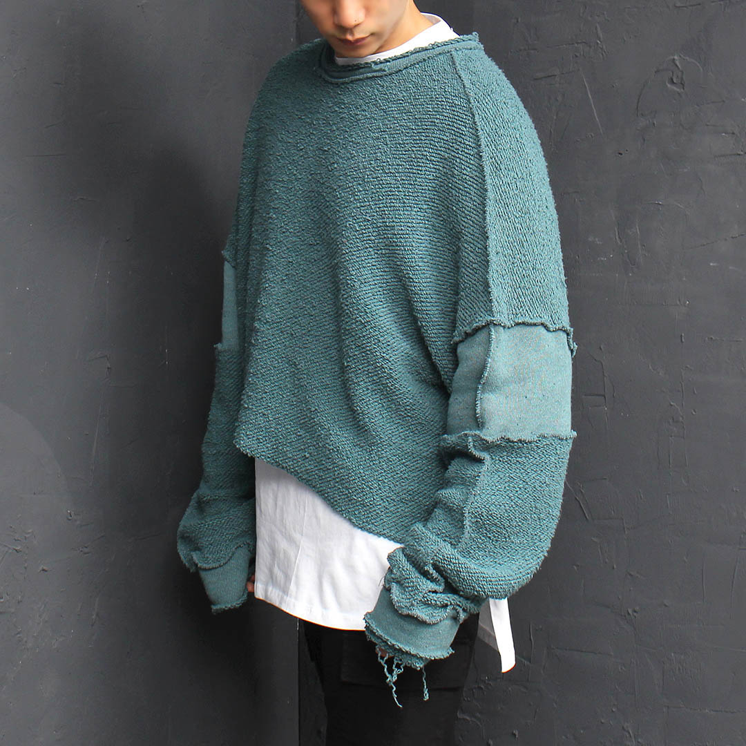 Vintage Over-sized Wide Boxy Crop Sweatshirt 083