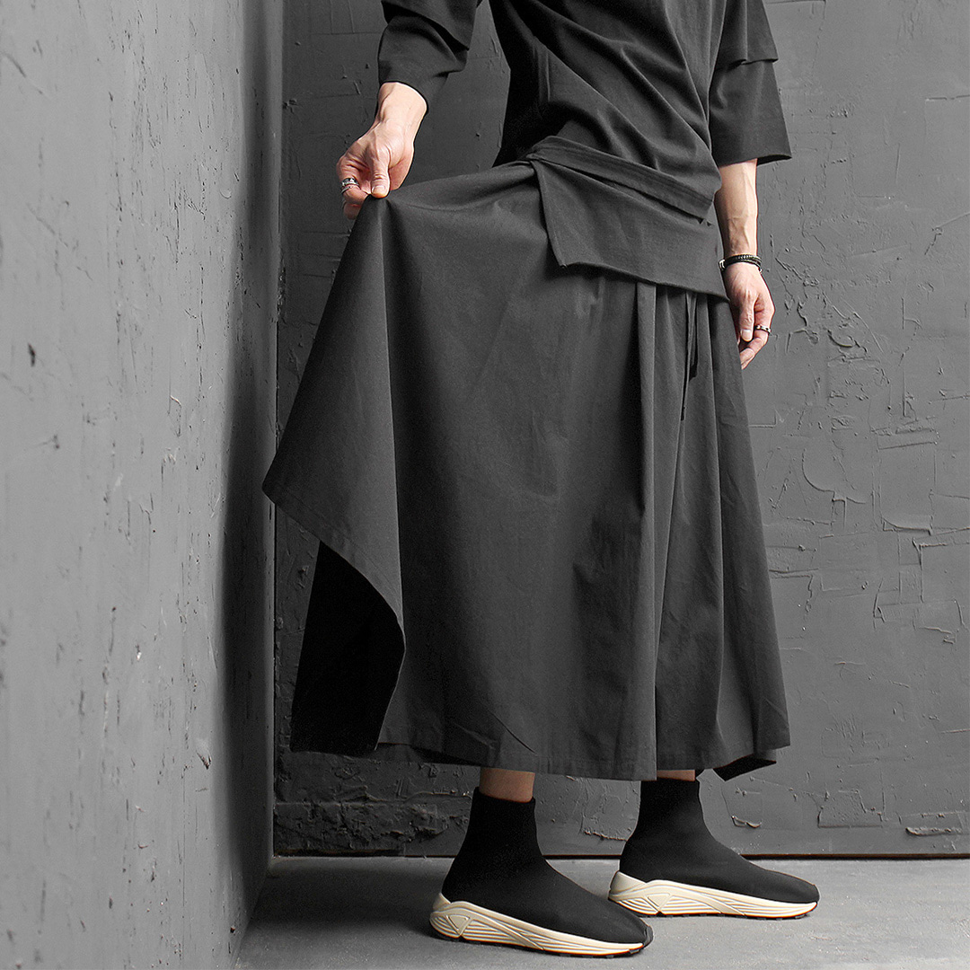 Avantgarde Oversized Square Drape Skirt Sweatpants 014