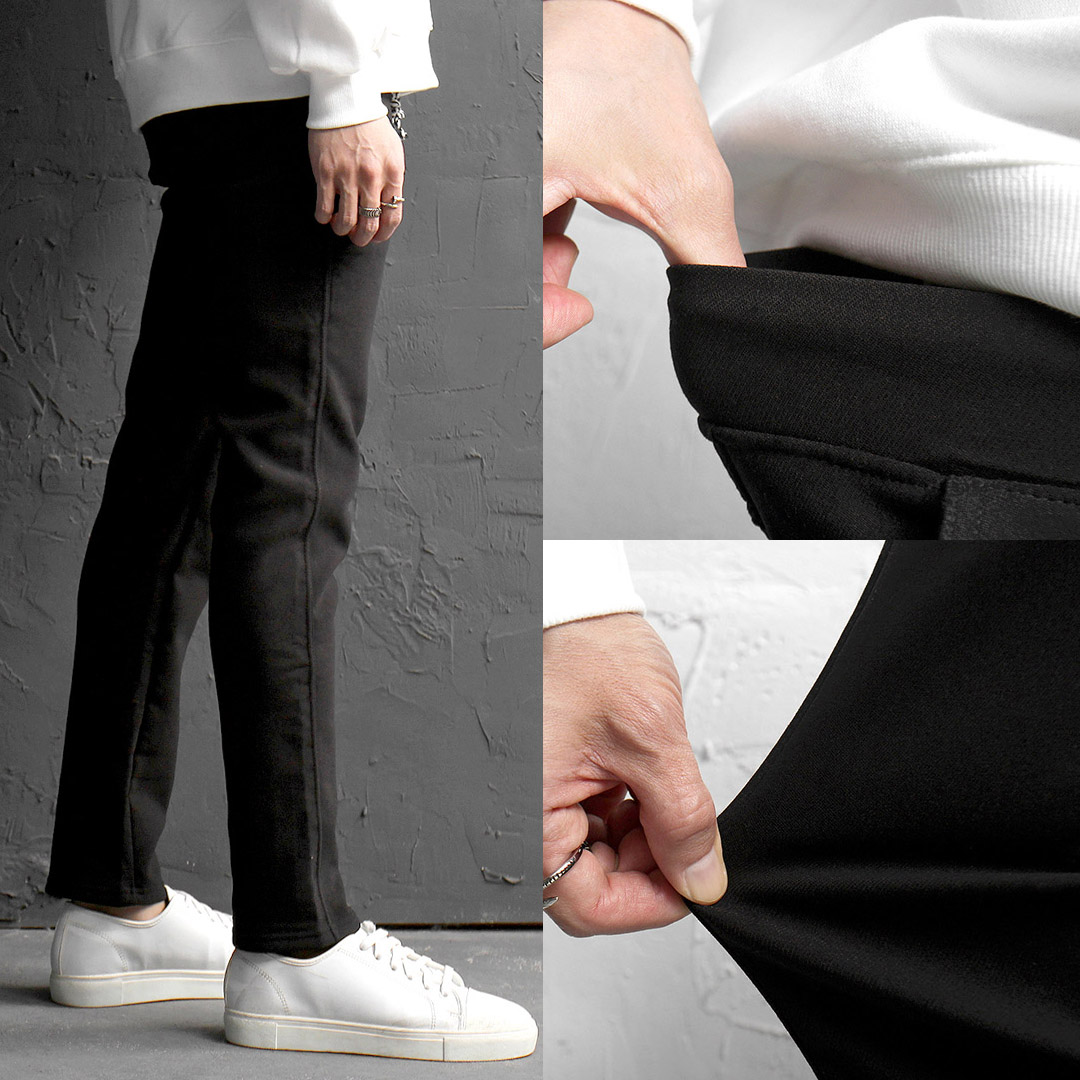 Elastic Waistband Spandex Slim Slacks Pants 170