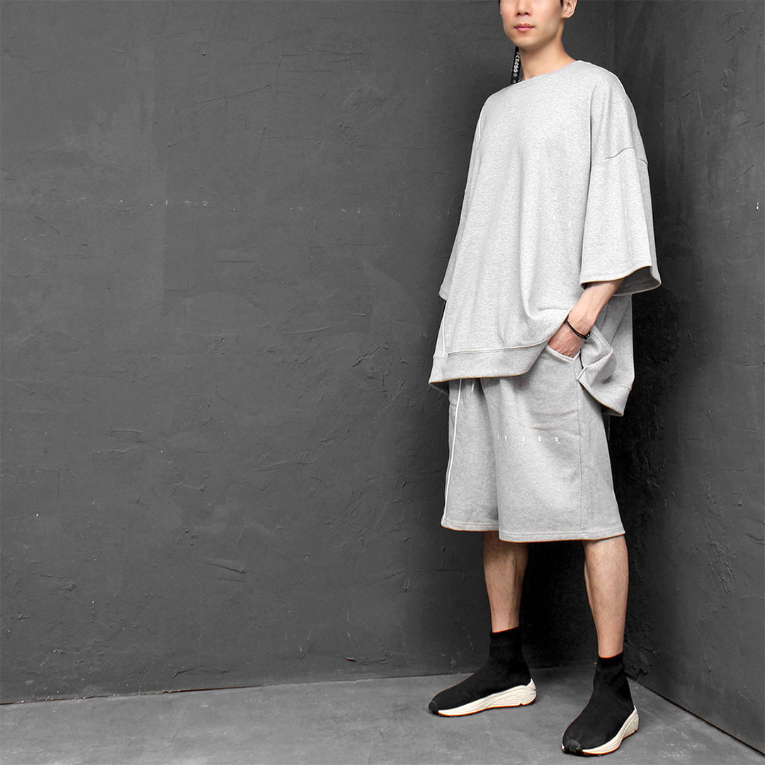 Oversized Loose Fit Short Sleeve Tee Pants Set 212