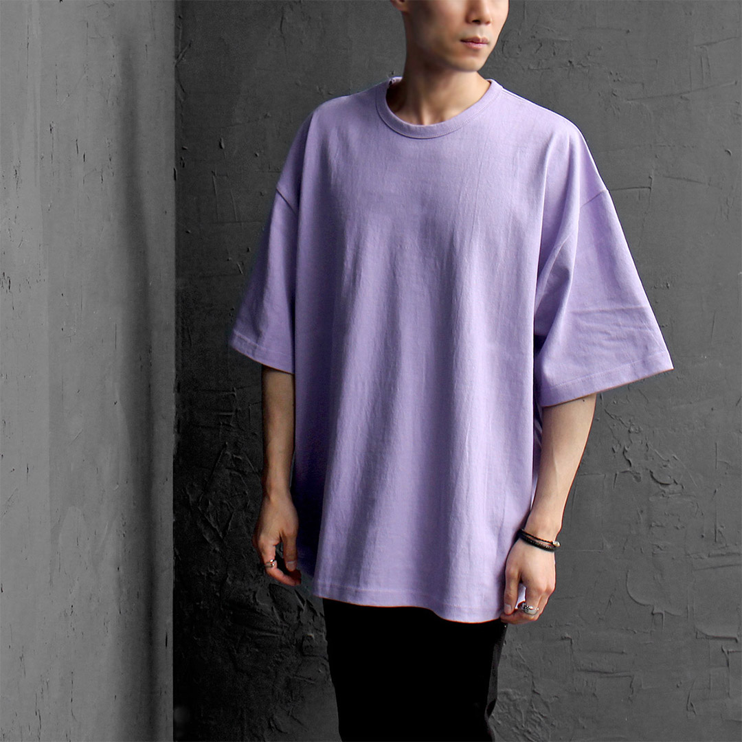 Oversized Loose Fit Basic Short Sleeve Tee 089
