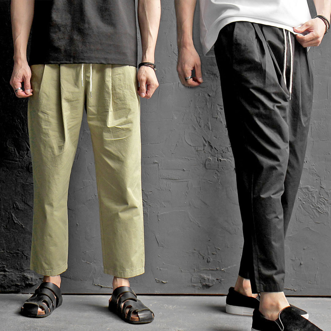 Elastic Waistband Low Crotch Slacks Pants 421