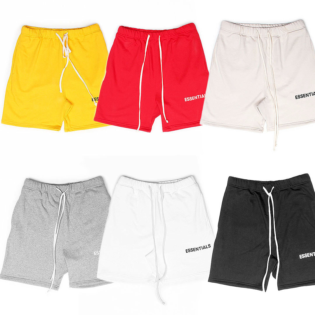 Standard Fit Long Strap Sportive Short Sweatpants 448