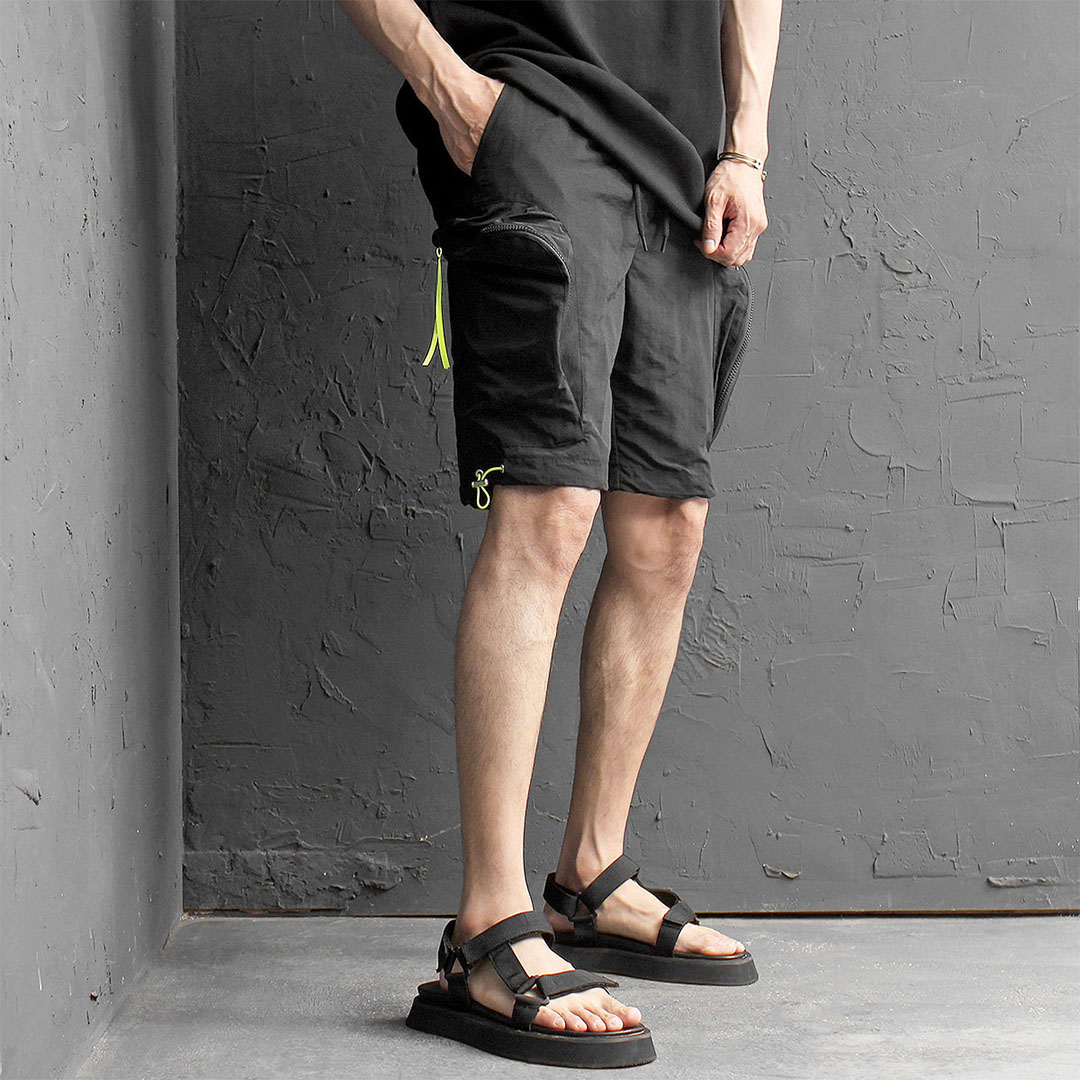 Big Cargo Zipper Pocket Jersey Short Pants 470
