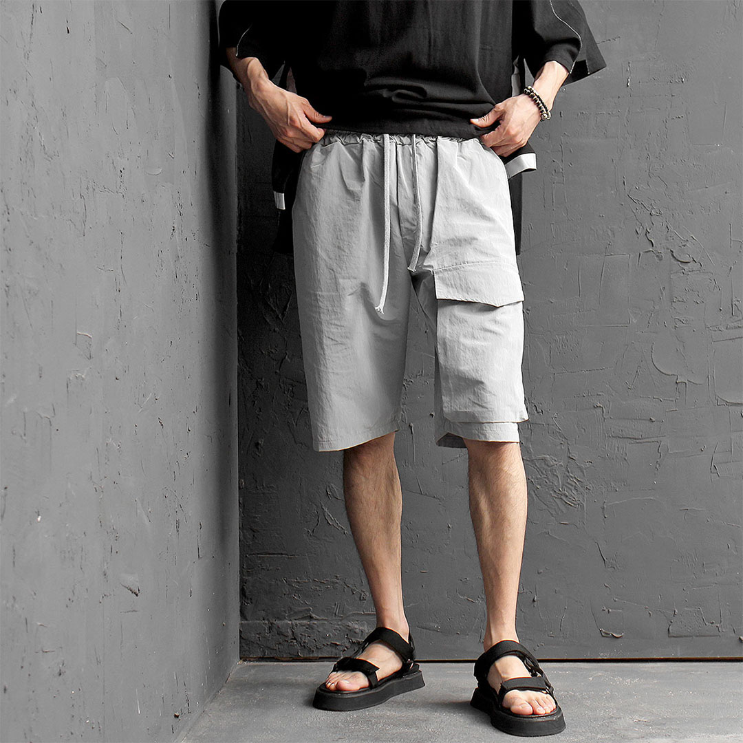 Unbalanced Cargo Pocket Jersey Short Sweatpants 483