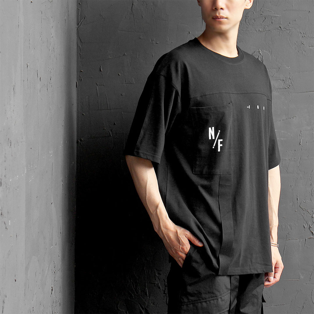 Webbing Strap Pocket Boxy Short Sleeve Tee 511
