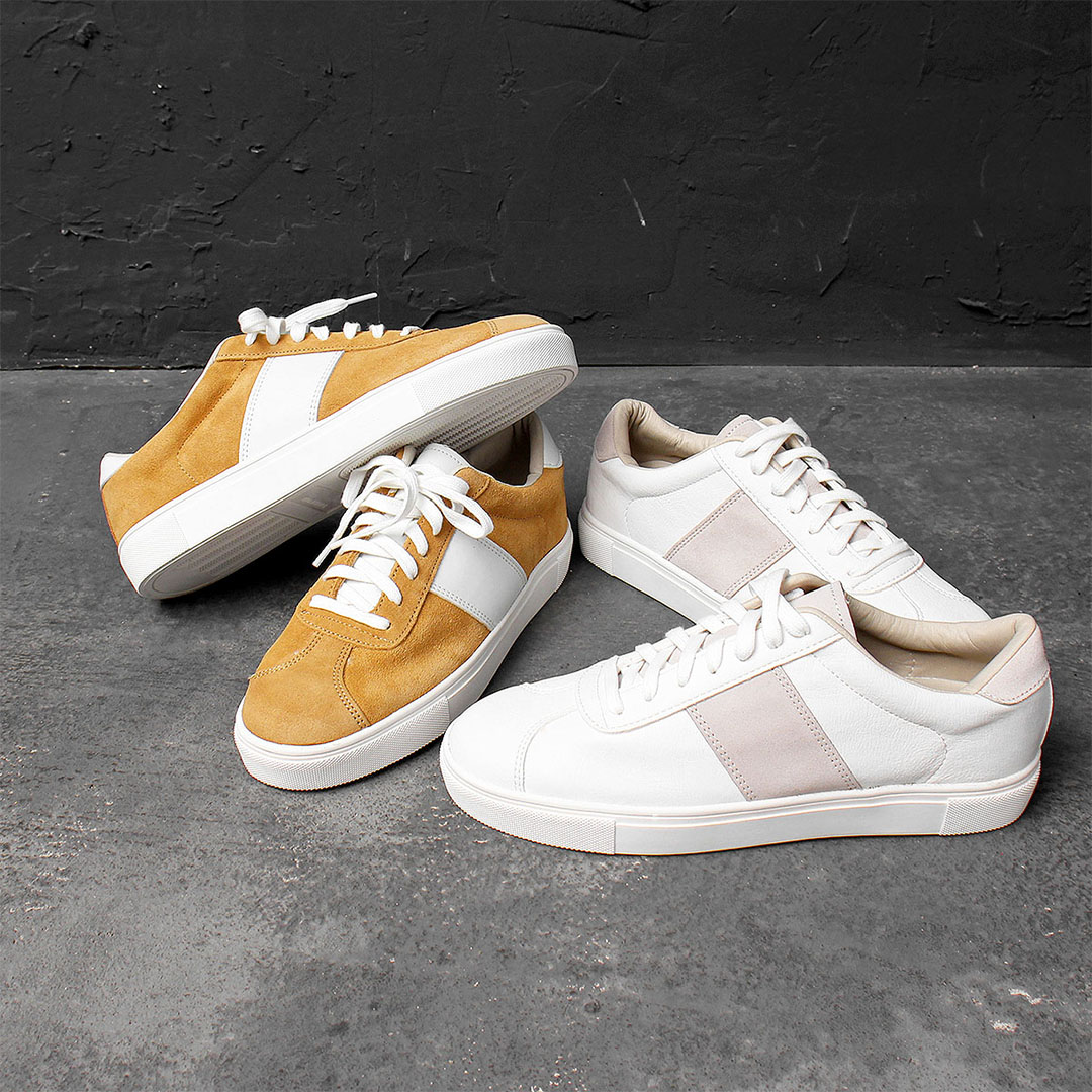 Combi Leather Canvas Lace Up Sneakers 595