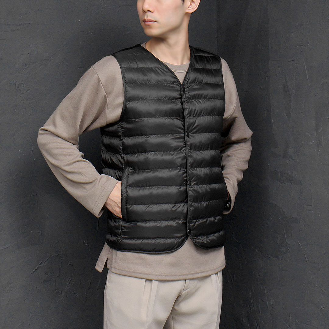 Button Up Padded Duck Down Vest 693