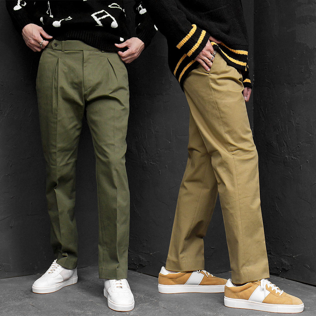Slim Fit Chinos Cotton Slacks Pants 679