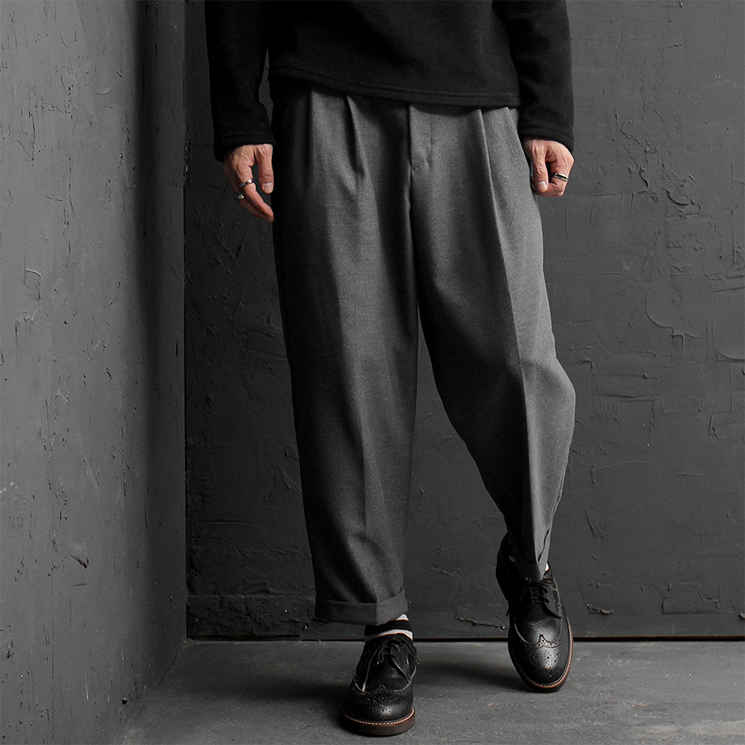 Wool Wide Slacks Pants 807
