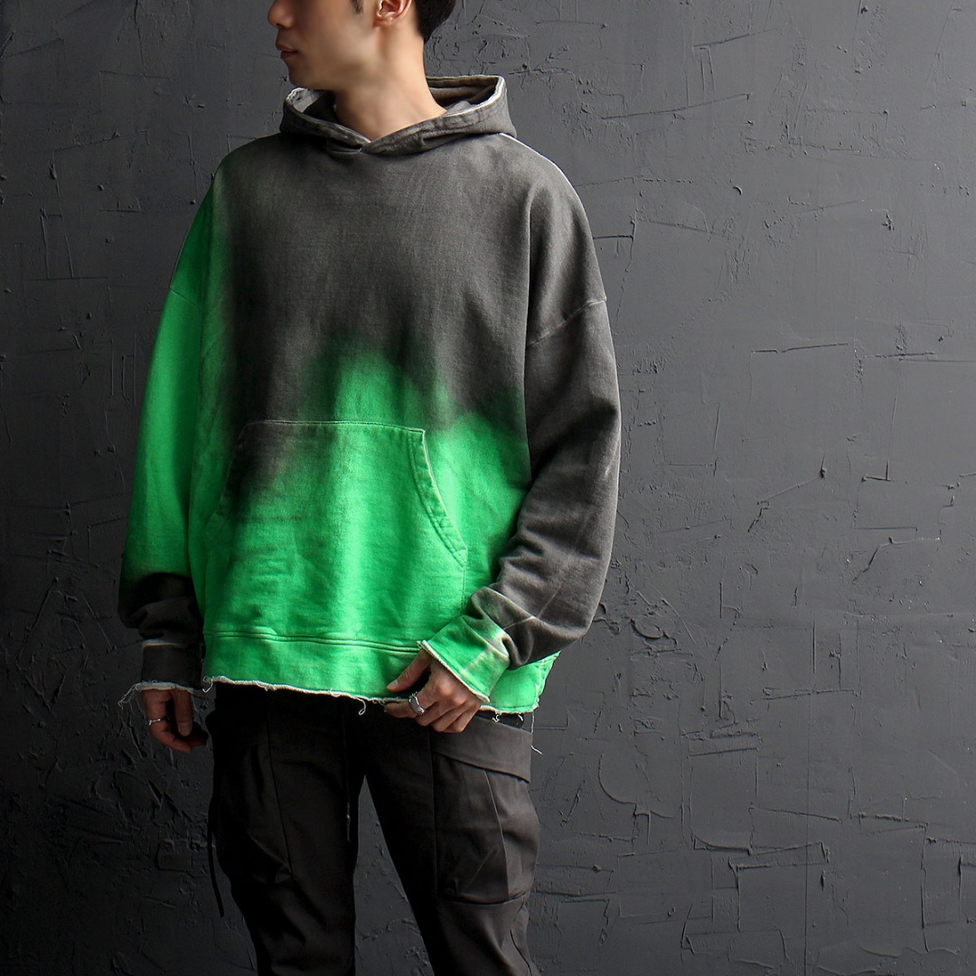 Oversized Vintage Double Color Hoodie 867