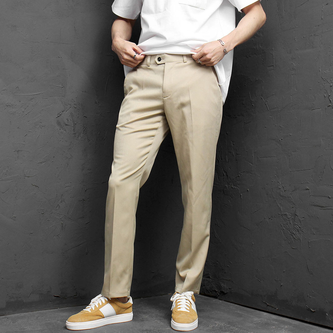 Slim Fit Basic Slacks Pants 961