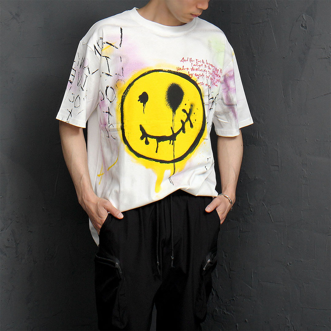 Halloween Smile Oversized Loose Fit Short Sleeve Tee 1066