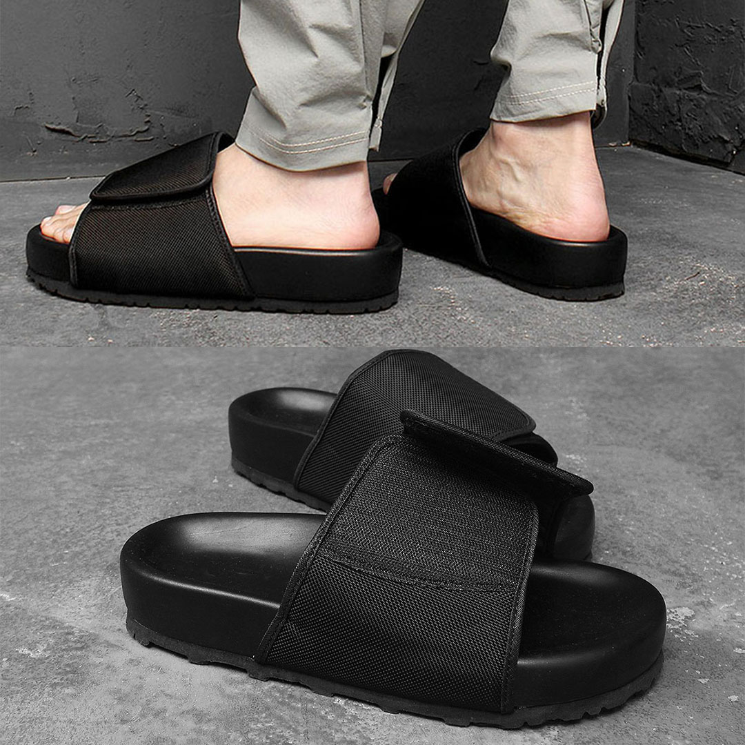 5cm Cushion Black Slipper 1078