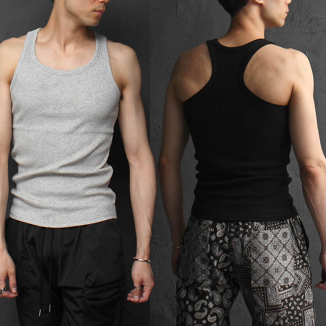 Slim Fit Corduroy Sleeveless Tank 1129