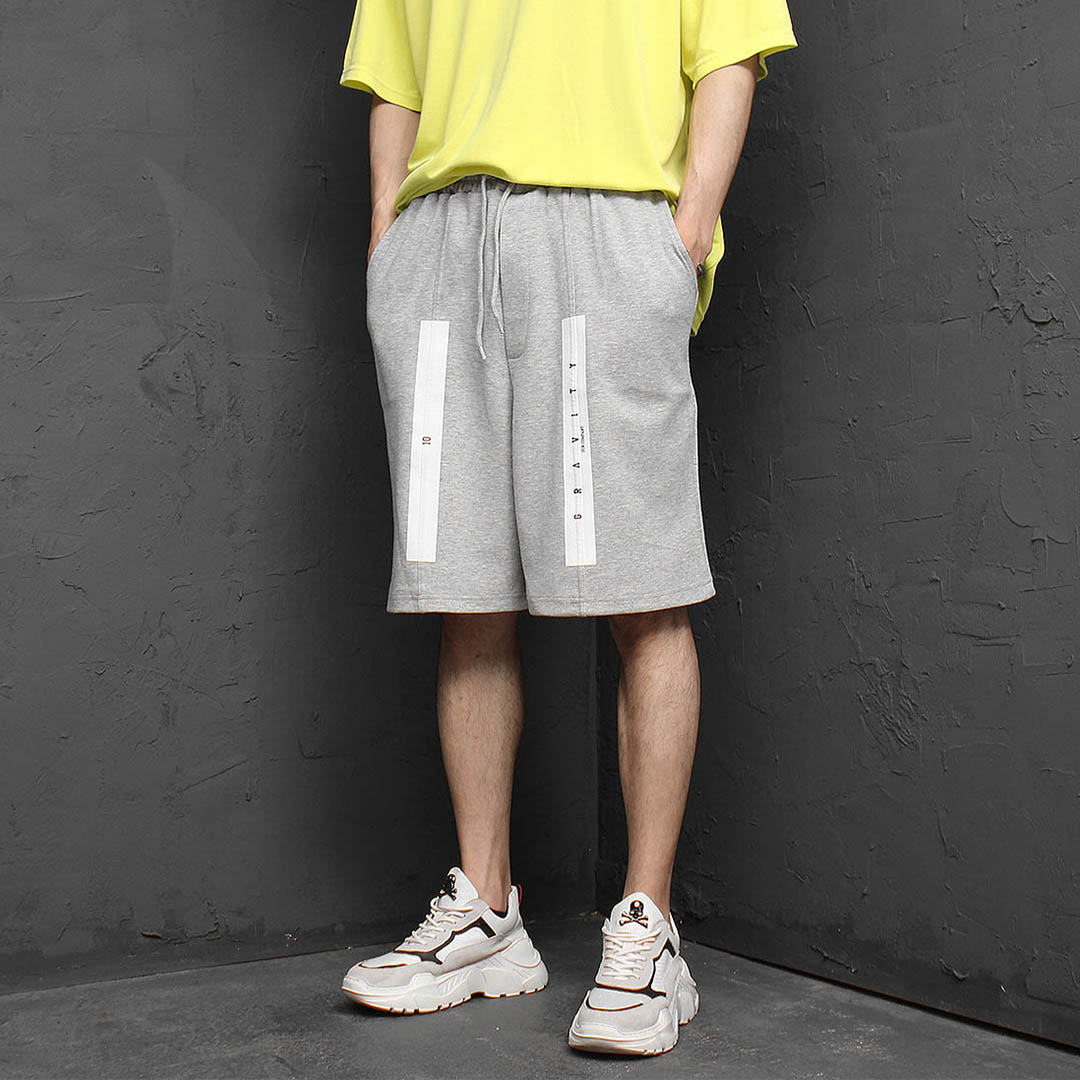 Line Printing Short Sweatpants 1135