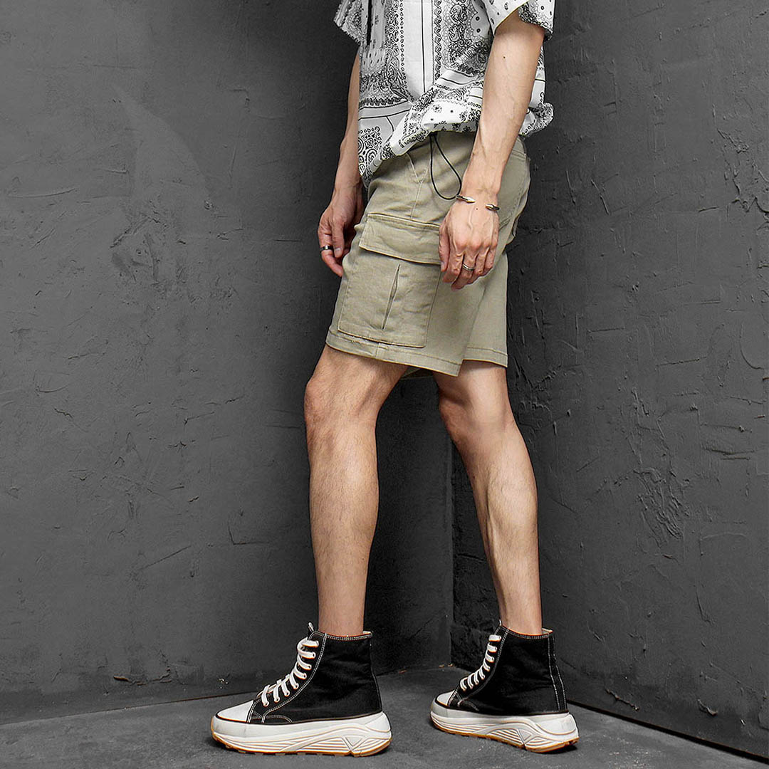 Pigment Vintage Washed Cargo Pocket Stretchable Shorts 1183