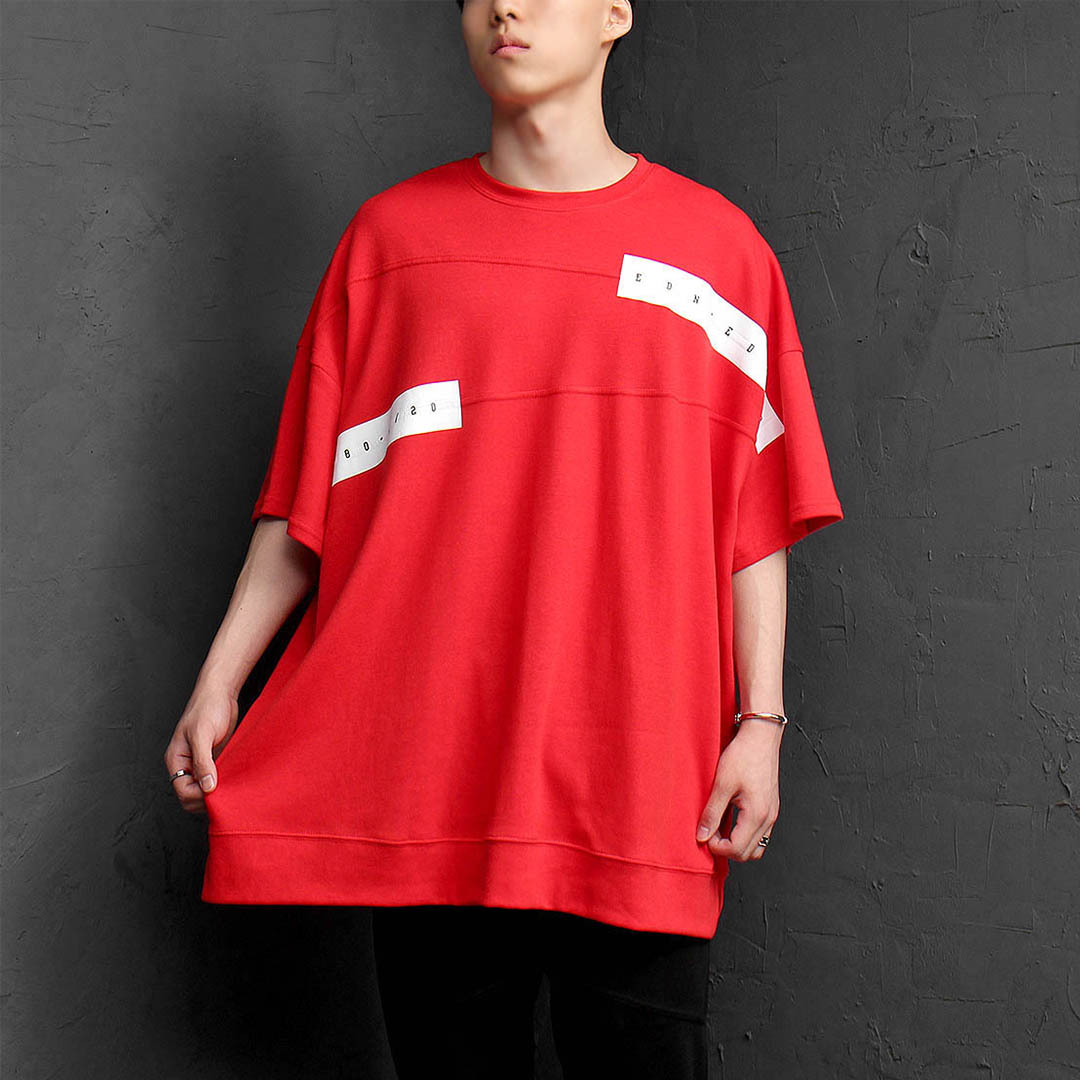 Oversized Loose Fit Short Sleeve Tee 1188
