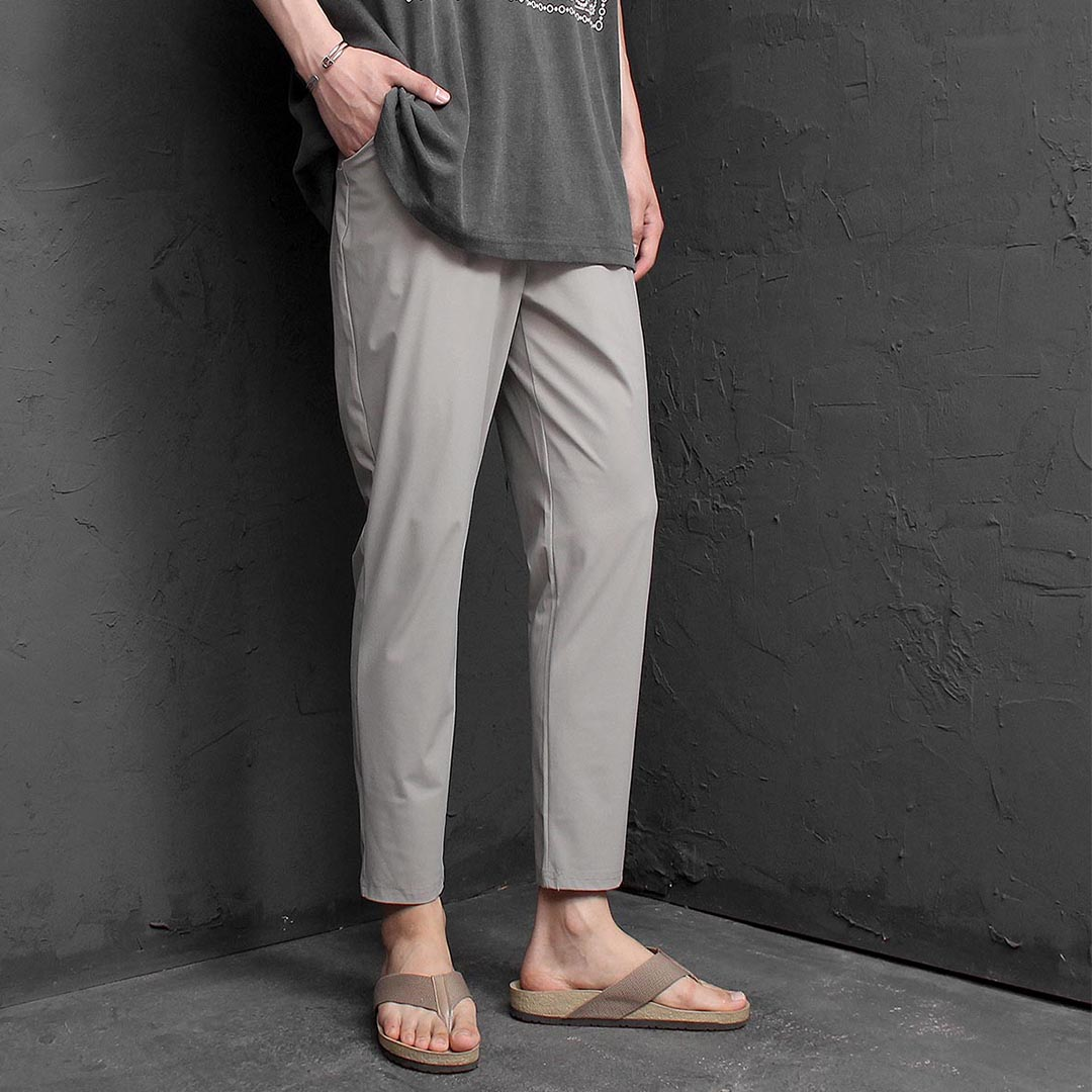 Ice Slim Fit Spandex Elastic Waist Pants 1264