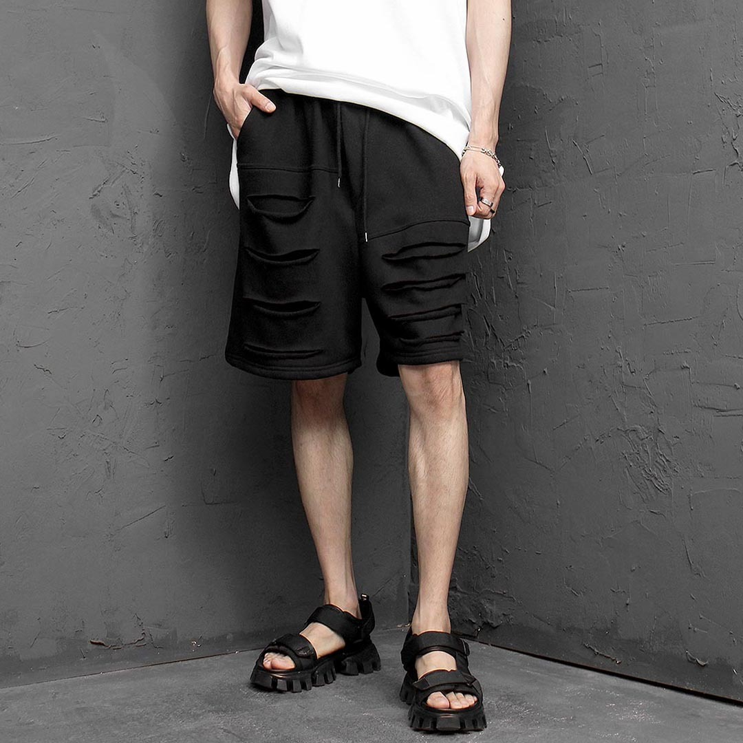 Vintage Cut Layered Short Sweatpants 1288