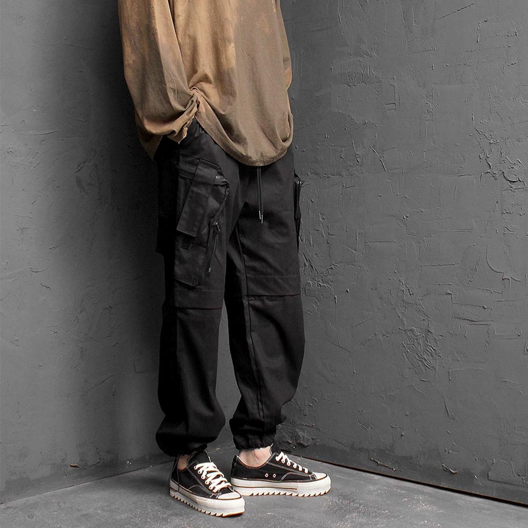 Army Zipper Cargo Pocket Joggers 1333