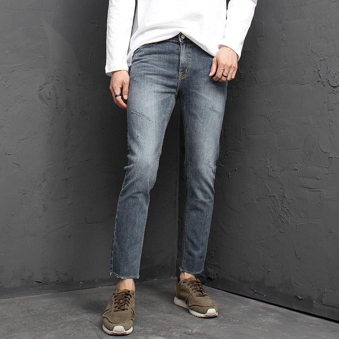 Vintage Cut Styling Blue Skinny Jeans 1336