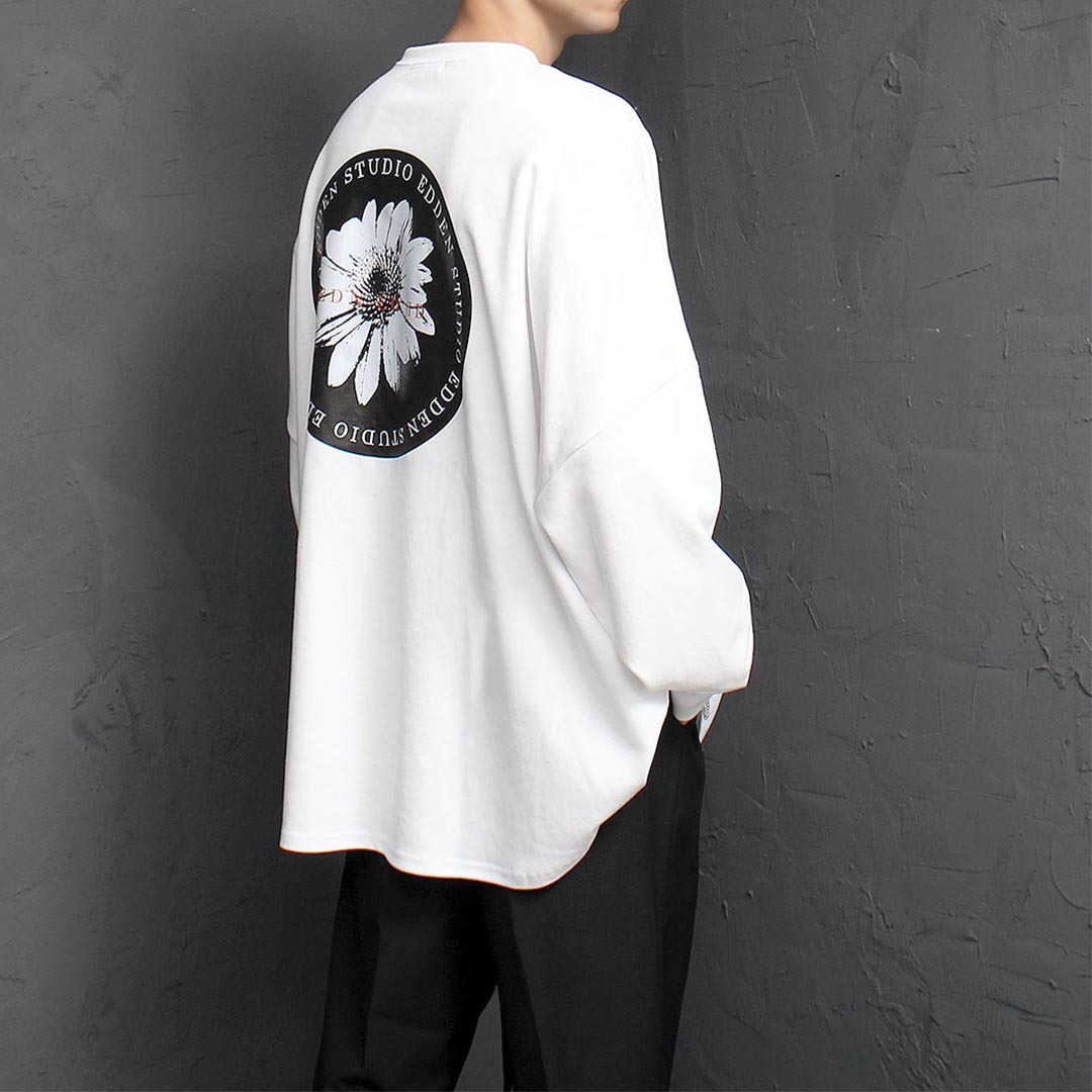 Over sized Loose Fit Graphic Printing Sweatshirt 1374