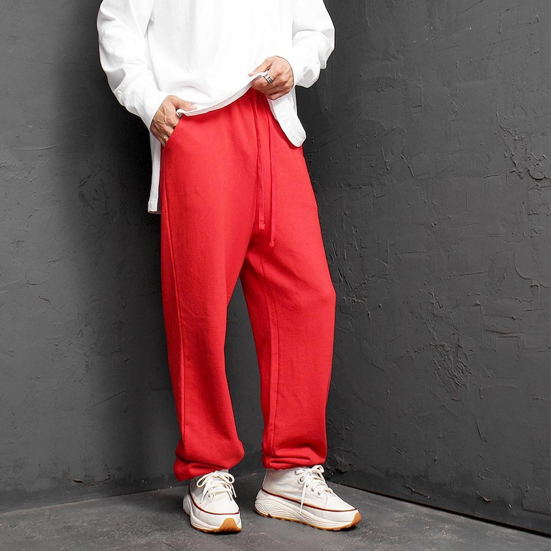 Loose Fit Wide Sweatpants 1378