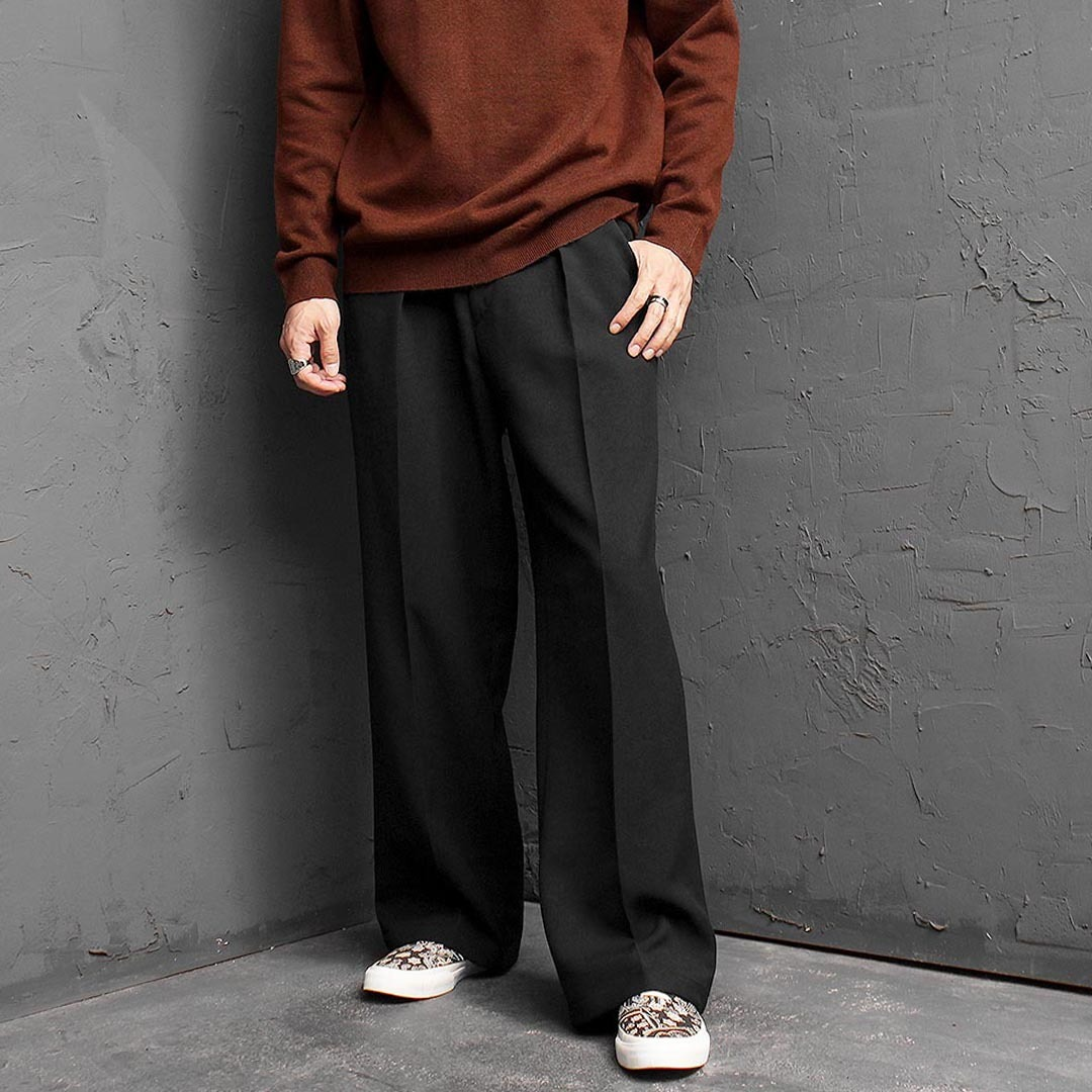 Oversized Loose Fit Wide Slacks Pants 1462