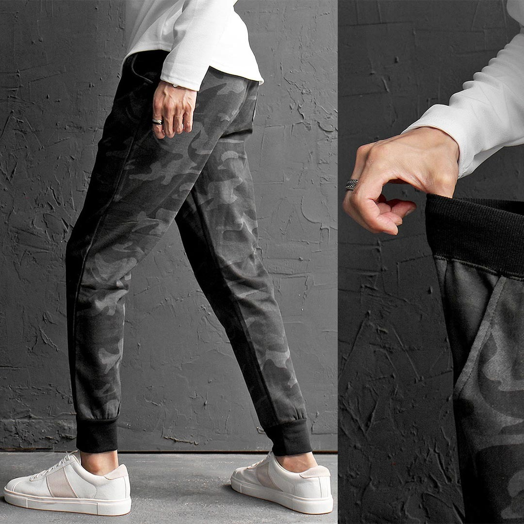 Slim Fit Camouflage Jogger Sweatpants 602