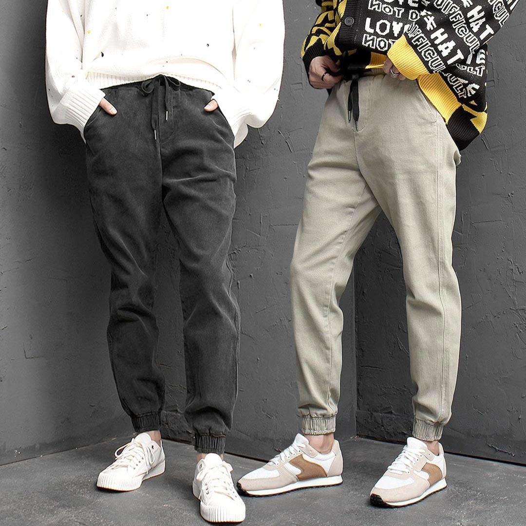 Slim Fit Vintage Washed Stretchable Joggers 1425